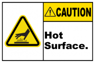 Safety Label - Caution Hot Surface