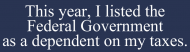 Bumper Sticker - Federal Government