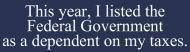 Bumper Sticker - Federal Government
