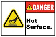 Safety Label - Danger Hot Surface