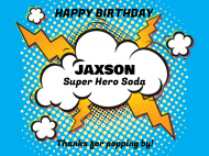Birthday Soda Label - Power Pop