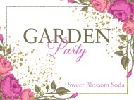 Celebration Soda Label - Garden Party