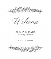 Wedding Wine Label - Branches