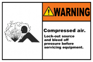 Safety Label - Compressed Air Lock-Out