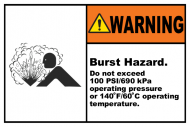 Safety Label - Burst Hazard Do Not Exceed
