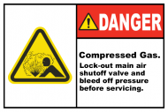 Safety Label - Compressed Gas Lock-out