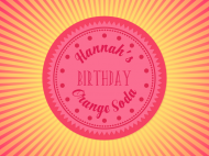Birthday Soda Label - Orange Soda