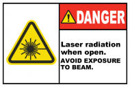 Safety Label - Laser Radiation When Open