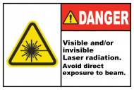 Safety Label - Visible / Invisible Radiation