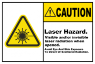 Safety Label - Laser Hazard Avoid Eye Exposure