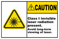 Safety Label - Class 1 Invisible Radiation