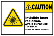 Safety Label - Invisible Laser Radiation