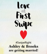 Wedding Wine Label - Love at First Swipe