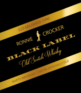 Birthday Liquor Label - Old Scotch Whisky