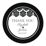 Wedding Sticker - Black & White