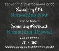 Wedding Beer Label - Chalkboard Wedding Brew