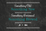 Wedding Growler Label - Chalkboard Wedding Brew
