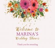 Wedding Beer Label - Watercolor Poppies