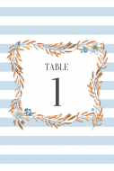 Wedding Table Number Label - Rustic Branches