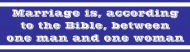 Bumper Sticker - Marriage Is According