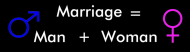 Bumper Sticker - Marriage Man Woman