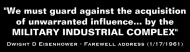 Bumper Sticker - Military Industrial Complex Dwight D Eisenhower