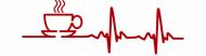 Bumper Sticker - Morning Coffee Heartbeat