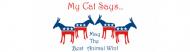 Bumper Sticker - My Cat Says Democrat