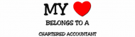 Bumper Sticker - My Heart Belongs To A Chartered Accountant