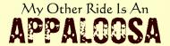 Bumper Sticker - My Other Ride Is An Appaloosa