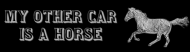 Bumper Sticker - My Other Car Is A Horse