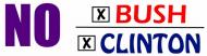 Bumper Sticker - No Clinton Bush