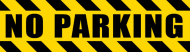 Bumper Sticker - No Parking Police Hazard Tape Black Yellow Stripes