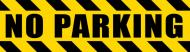Bumper Sticker - No Parking Police Hazard Tape Black Yellow Stripes