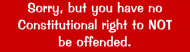 Bumper Sticker - No Right To Not Be Offended