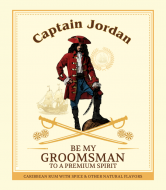 Wedding Wine Label - Rum Captain