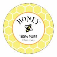 Canning Label - Honey Bee