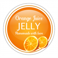 Canning Label - Orange Jelly