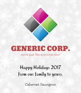 Holiday Wine Label - Generic Holiday