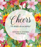 Wedding Wine Label - Hawaiian Wedding