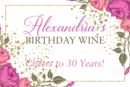 Birthday Mini Wine Label - Garden Party
