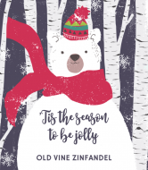 Holiday Wine Label - Beary Merry Christmas