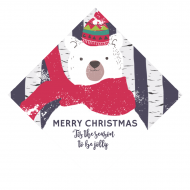 Holiday Wine Hang Tag - Beary Merry Christmas