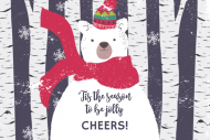 Holiday Mini Wine Label - Beary Merry Christmas