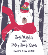 Holiday Champagne Label - Beary Merry New Year