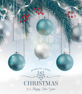Holiday Champagne Label - Fir Tree Ornaments