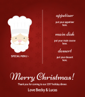Holiday Wine Label - Christmas Dinner