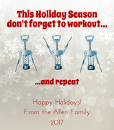 Holiday Wine Label - Holiday Workout