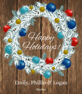 Holiday Wine Label - Holiday Decor