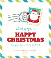 Holiday Wine Label - Letter To Santa